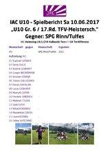 IAC U10 Spielbericht 20170610 Rinn MS FJ 17.Rd