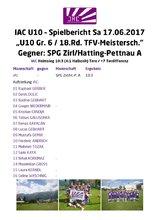 IAC U10 Spielbericht 20170617 Zirl MS FJ 18.Rd